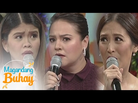 "Magandang Buhay: Momshie Karla, Jolina and Melai reenact the trending scene of ""My Ex and Whys"""