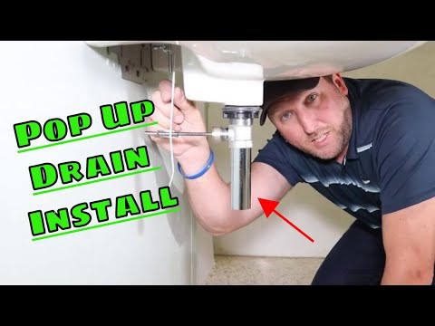 How To Replace A Pop Up basin Drain