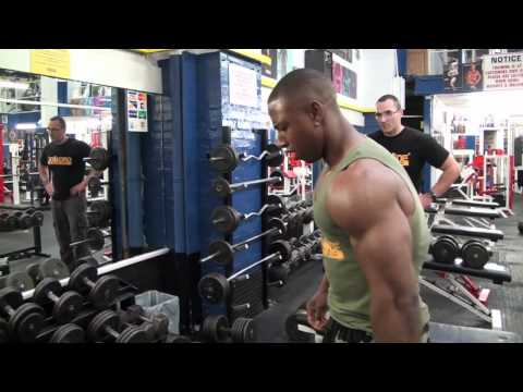 Shane from Team Grenade goes through a DTP chest and back workout with Kris Gethin. Brutal!