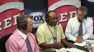 ATL@CIN: Morgan visits Reds' broadcast booth