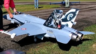 F/A-18 HORNET BIG RC SCALE MODEL FIGHTER TURBINE JET AMAZING DISPLAY FLIGHT / RC Airshow Hausen 2015