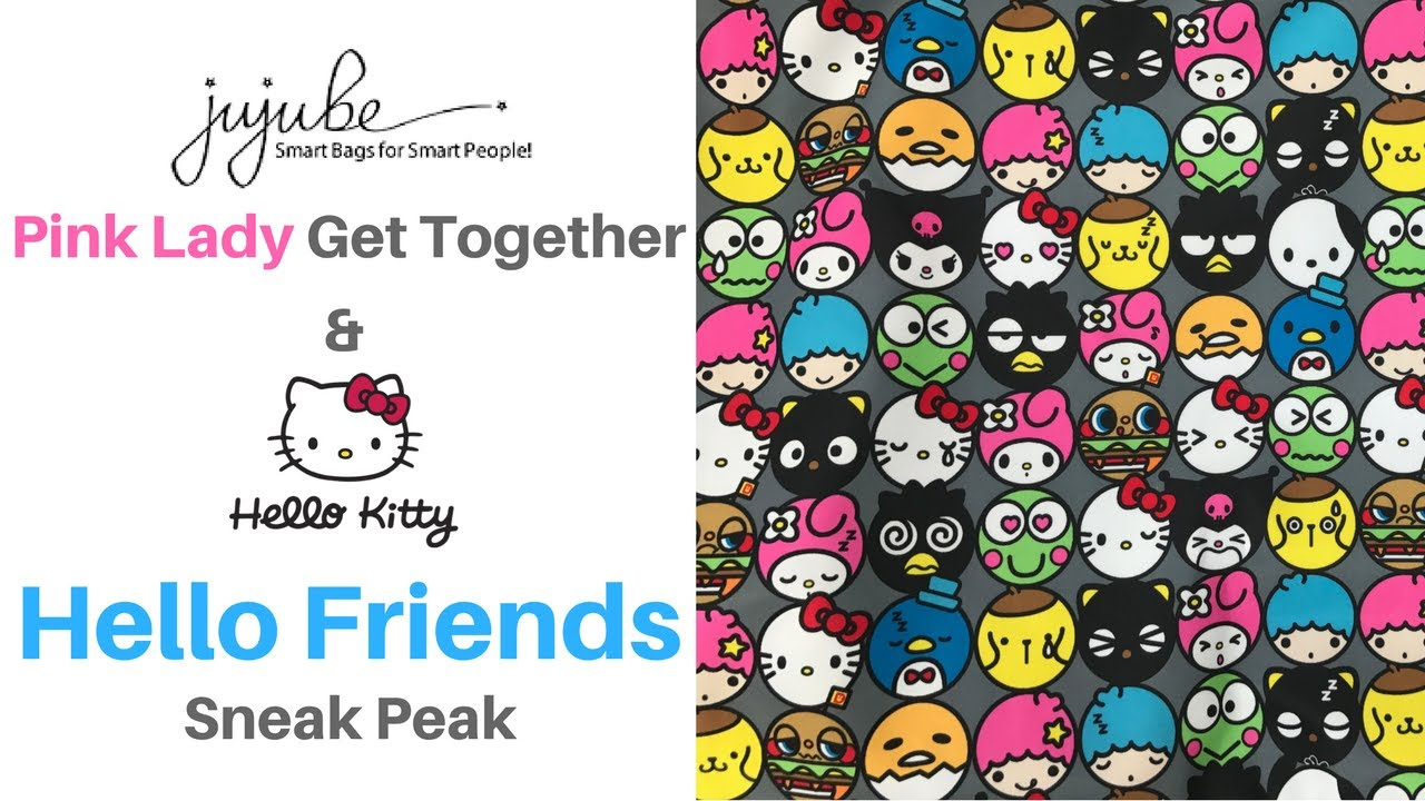 0fcddc608c78 Ju-Ju-Be Pink Lady Get Together and Sneak Peak of Sanrio s Hello Friends