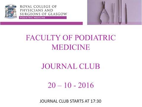 Podiatric Medicine Journal Club Oct 2016