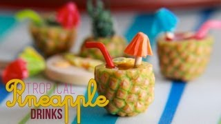 Tropical Pineapple Fruit Drinks - How To Make a Pineapple Cane with Polymer Clay Thumbnail