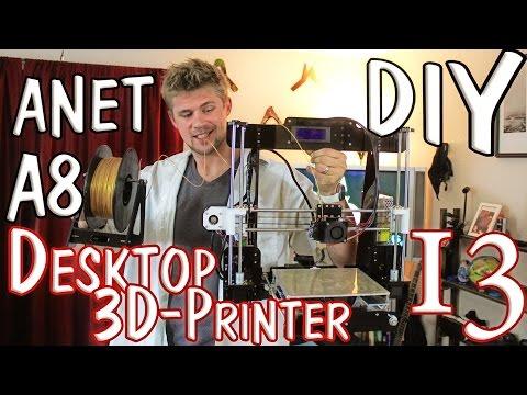✔ Anet A8 Desktop 3D Printer Prusa i3 DIY Kit - QUICK REVIEW!