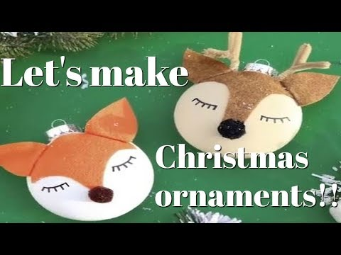 Let's make Christmas ornaments!!!