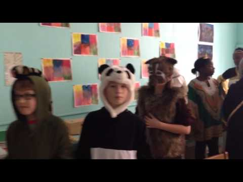 Detroit Waldorf School 5th grade class costumes