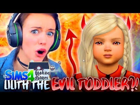 😈LILITH BECOMES A TODDLER...😈 (The Sims 4 - BROKEN DREAM #2! 🏚)