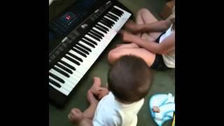 Zak playing keyboard Thumbnail