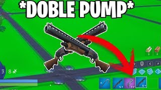 DOUBLE PUMP in FORTNITE SEASON 8!! * NO ONE KNOWS THIS SECRET *