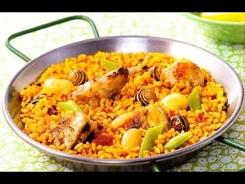 paella a la valenciana, Receta #45, paella - YouTube