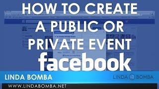 How Create Public Or Private Event Facebook