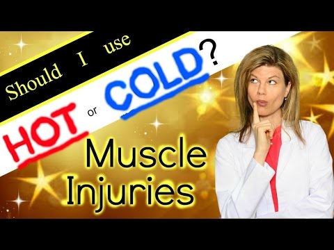 Muscle Injuries. Should you use hot or cold therapy? back pain, muscle strain / sprain