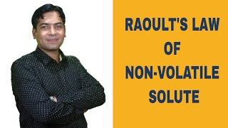 Raoult's Law of Non Volatile Solute thumbnail