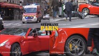 ferrari crash in Paris