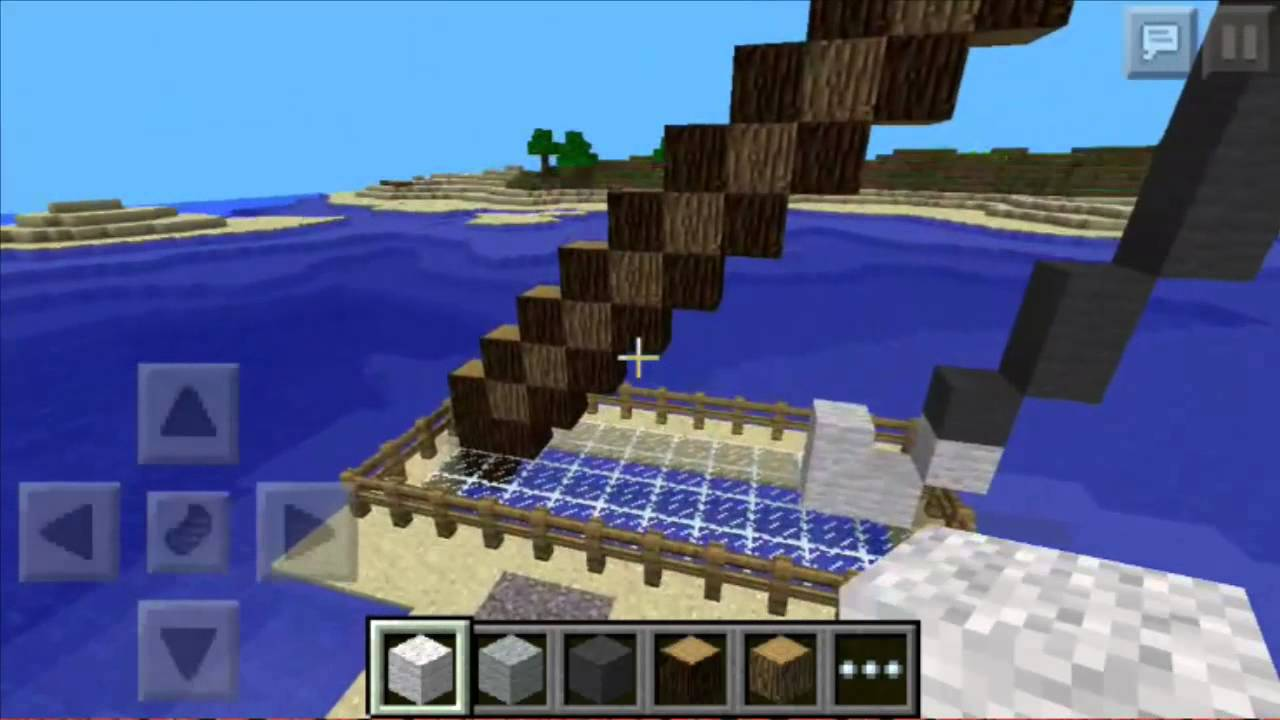 How to build a pixel art fishing rod in minecraft pc pe for How to fish in minecraft pe
