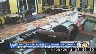 Man walks out of restaurant with ATM(10News obtains surveillance video after man pushed an ATM out of a mexican restaurant., 2013-04-08T19:31:34.000Z)