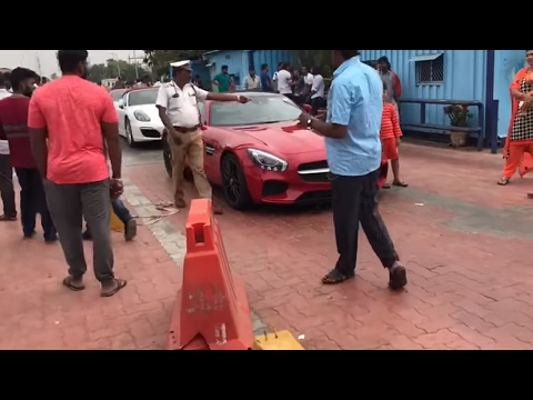 Super-cars detained | Chennai | Lamborghini | Porsche | BMW | Mercedes sls | ECR