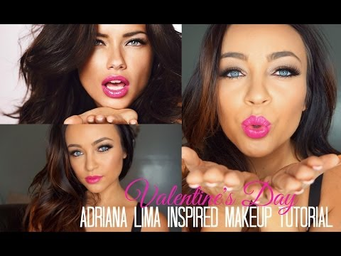 Adriana Lima Inspired Valentine's Day Makeup Tutorial ♡