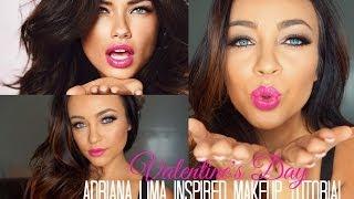 Video Adriana Lima Inspired Valentine's Day Makeup Tutorial ♡ download MP3, 3GP, MP4, WEBM, AVI, FLV Juli 2018