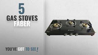 Top 10 Gas Stoves Faber [2018]: Faber Cooktop Glass 3 Burner Gas Stove, Black