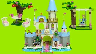 Cinderella's Romantic Castle Lego 41055 Step By Step Build Disney Princess