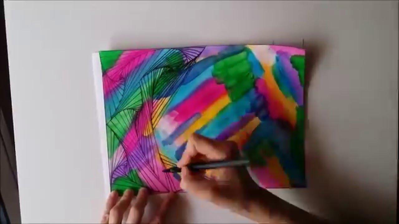 Arte óptico A Colores Dibujo Lineal Mismadeleinas Youtube