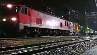 【JR北陸本線 貨物列車撮影】2020年02月17日 (月) 甲種輸送