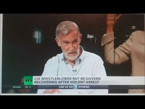 Charged with disrupting congress and resisting arrest, former CIA Analyst Ray McGovern