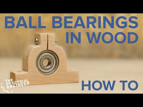 How to make bearing mounts from wood - Use bearings in your woodworking projects