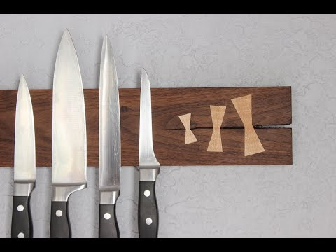 Making a Knife Rack with Bow Tie Keys
