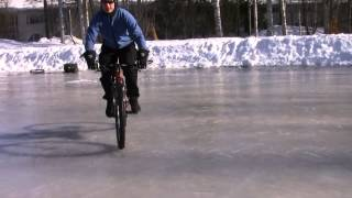Custom bicycle for drifting on ice and snow
