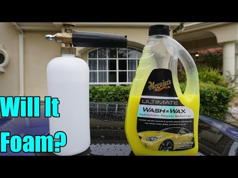 Meguiars Ultimate Wash and Wax in a Foam Cannon Test!