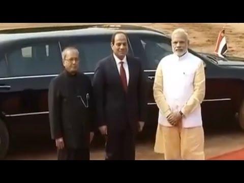 Egyptian President Abdel Fattah al-Sisi Meets PM Modi at Rashtrapati Bhawan