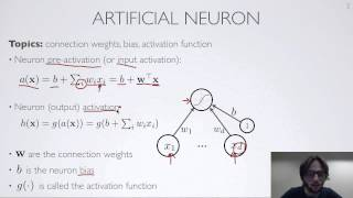 Neural networks [1.1] : Feedforward neural network - artificial neuron