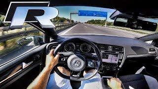 VW Golf R RACECHIP AutoBahn POV 373HP Acceleration & Edel01 LOUD! Exhaust SOUND
