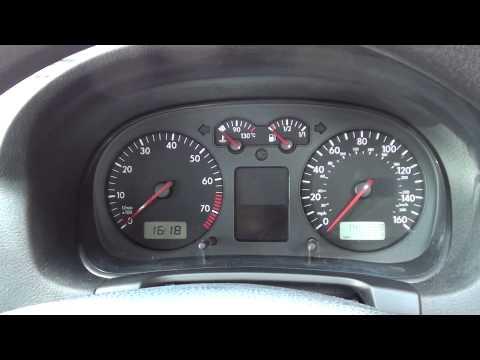 VW Golf Mk4 Dashboard Warning Lights At Ignition & Engine Start Stages