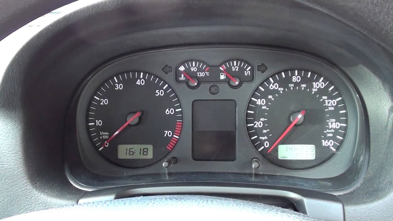Vw Golf Mk4 Dashboard Warning Lights At Ignition Engine Start Stages
