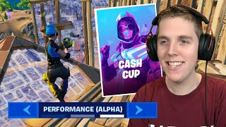 I Played A Cash Cup BUT With Performance Mode! - Fortnite Battle Royale