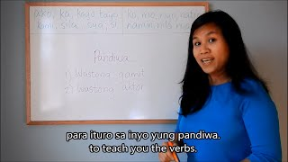Learn Tagalog (filipino) Lesson 8: Verbs (part 1) (pandiwa), Grammar; English Tagalog Subtitles