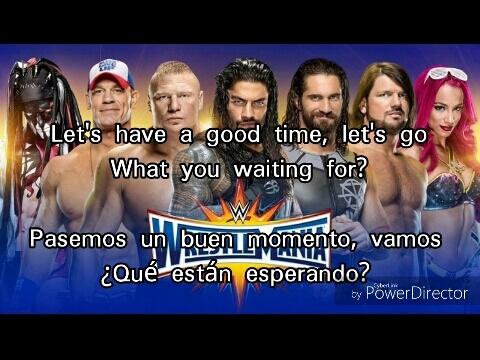 """Wrestlemania 33 Official Theme Song! Subtitulada Español-Ingles """"Greenlight"""""""