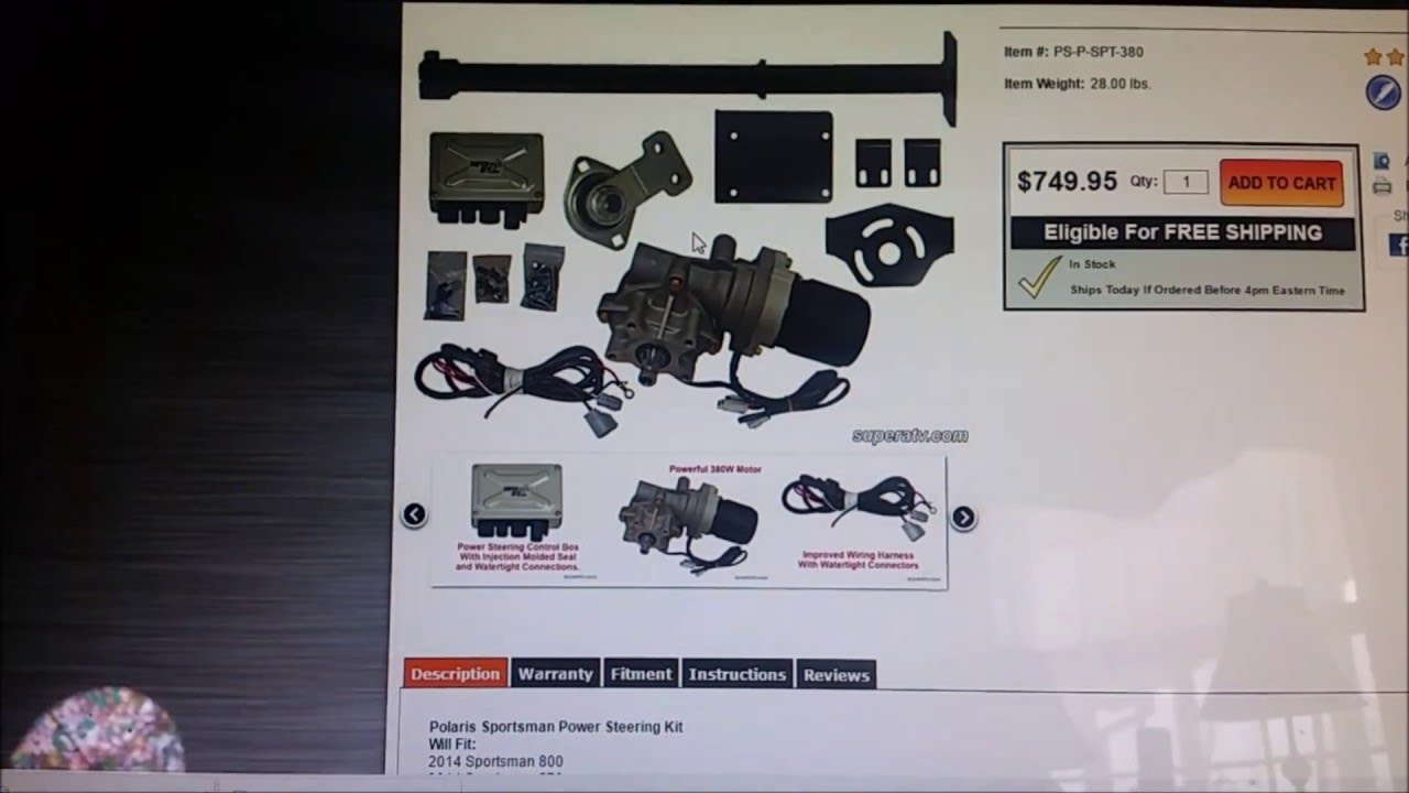 polaris atv power steering install youtube rh youtube com Polaris Ranger Parts Diagram 2012 Polaris Ranger Wiring Diagram