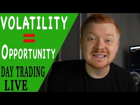 DAY TRADING LIVE - VOLATILITY = OPPORTUNITY