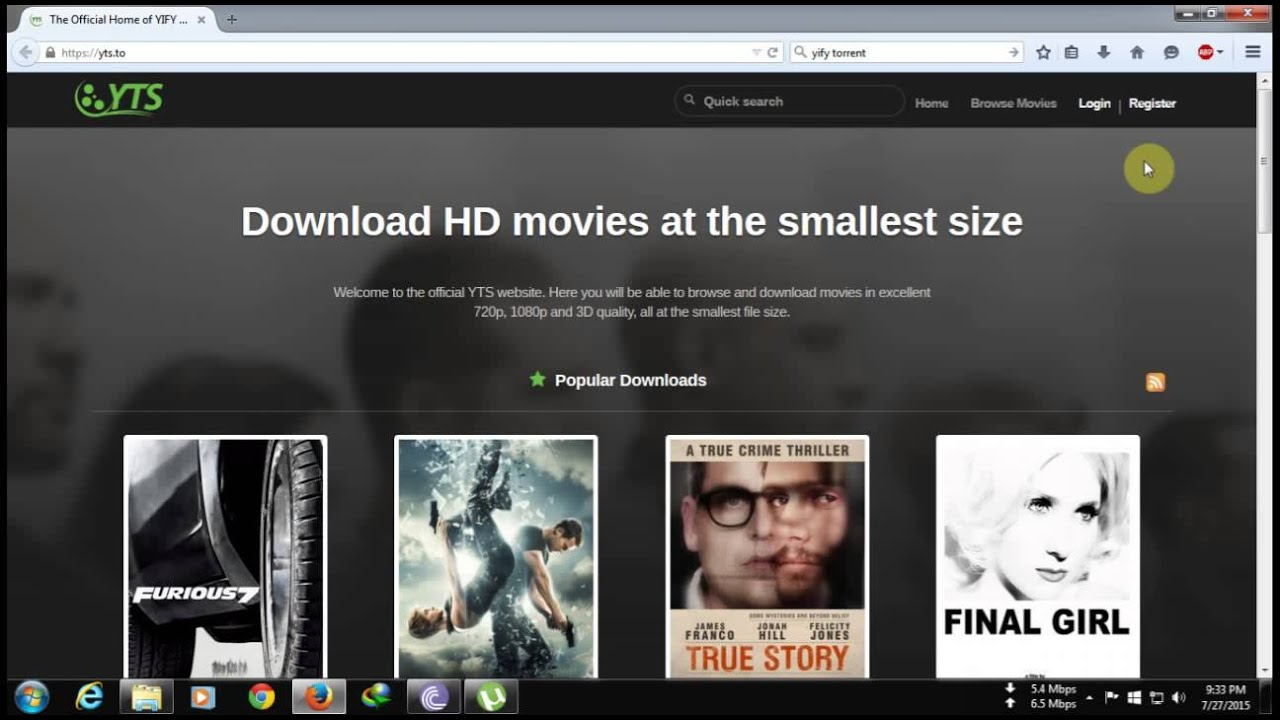 How to download movies from YIFY TORRENT