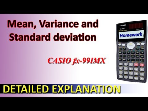 Calculate Standard Deviation, Mean And  Variance Using Casio Fx-991ms Calculator | Homework