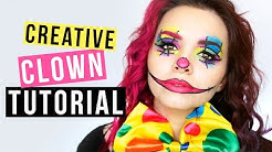CREATIVE CLOWN - Makeup Tutorial - Kostümidee für Karneval/Fasching ❤