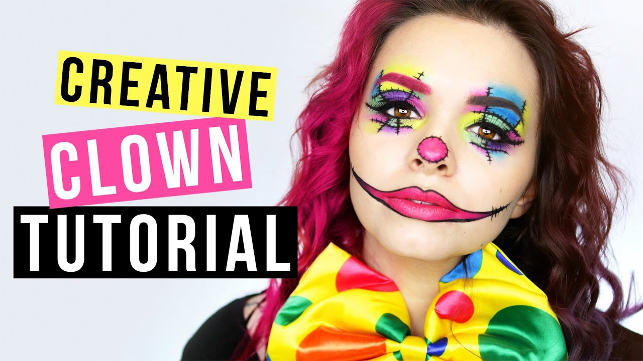 Clown Schminken Leicht Creative Clown Makeup Tutorial Kostümidee Für Karneval Fasching