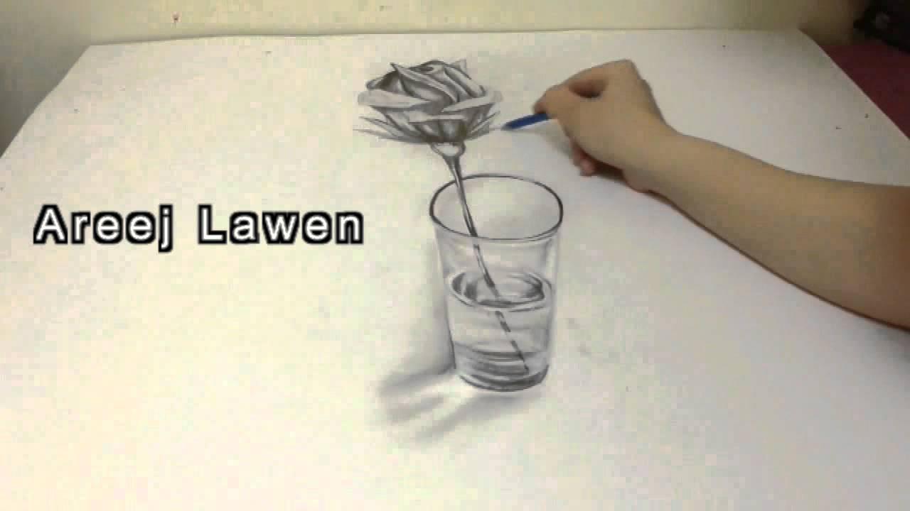 3d Drawing Areej Lawen رسمة ثلاثية الابعاد اريج لاون Youtube