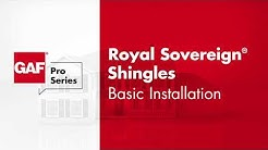 GAF Pro Series Royal Sovereign® Shingles Basic Install