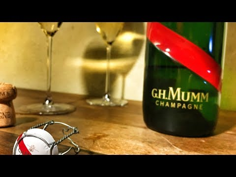 Striking Bottle Design & Wine Review of Mumm Grand Cordon Champagne